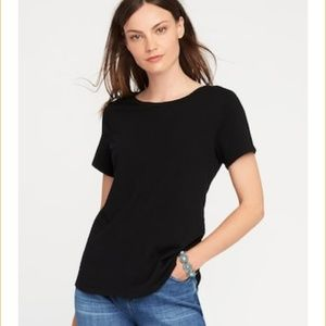 Relaxed Fit Black Crew Neck T Shirt